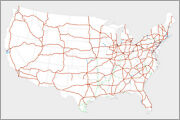 Poster, Many Sizes Map Of Us Interstate Highway System In The United States Dwi