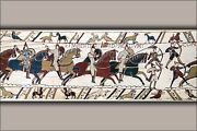 Poster Many Sizes Bayeux Tapestry Battle Of Hastings Norman Knights And Archer