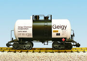 Usa Trains G Scale Beer Can Tank Car R15215 Geigy Chemical Corp. - White, Black
