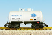 Usa Trains G Scale Beer Can Tank Car R15218 J. M. Huber Corp. - White