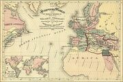 Poster Many Sizes Bible Map Of Scripture World Israel Egypt 1881