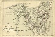 Poster Many Sizes Bible Map Of The Exodus From Egypt 1881