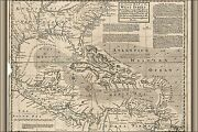Poster, Many Sizes Map Of West Indies Cuba Florida Mexico 1750 P2