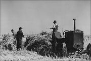 Poster, Many Sizes Haskell County, Kansas. Farmers With Case Tractor 1941