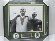 Jack Nicklaus Arnold Palmer Signed Autographed Framed Matted 16x20 Fanatics Coa