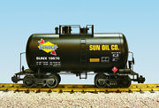 Usa Trains G Scale Beer Can Tank Car R15207 Sunoco - Black