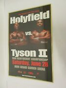 Mike Tyson Vs Evander Holyfield Ii Fight Poster Framed 24x36 Mgm Grand