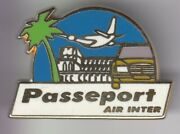 Rare Pins Pinand039s .. Avion Plane Airlines Compagnie Air Inter Auto Mercedes 1 D5