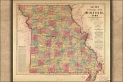 Poster Many Sizes Lloydand039s Official Map Of Missouri 1861