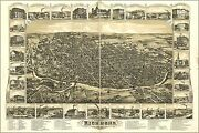 Poster, Many Sizes Map Of City Of Richmond, Indiana 1884