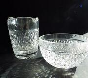 Waterford Crystal Creamer And Open Sugar Bowl 80