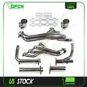 For Chevy Gmc 07-14 4.8 5.3 6.0l Stainless Steel Long Tube Header Exhaust+y-pipe