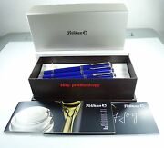 Very Rare Set Special Edition Pelikan Solid Blue M805 + R805 + K805 Fp+rb+bp