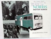 1969 Norris Motor Home Dodge M 300 1 Ton Chassis Rv Camping Sale Brochure Mailer