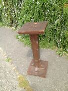 Antique Arts And Crafts Plant Stand Table Floor Lamp Old Unusual Mixed Wood Pine A