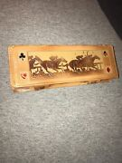 Full Deck Of Vintage Antique Small Playing Cards In Leather Case - 52 Cards