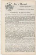 Augustus W Bradford / Proclamation By The Governor 1863