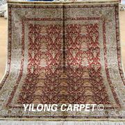 Yilong 5and039x7and039 Medium Antique Silk Rug Hand Knotted Pictorial Carpet Handmade 1914