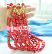 Wholesale 5pcs Huge 12x16mm Amazing Red Coral Cylinder Bead Gemstone Necklace18