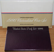 1986 Proof And Uncirculated Annual Us Mint Coin Sets Pds 15 Coins As Issued