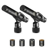 Neewer 2-pack Pencil Stick Condenser Microphone Kit With Omni Cardioid Capsules