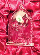 Waterford 2007 Nativity Holy Family Crystal Ornament - New In Box