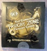 The Complete Twilight Zone Trading Card Hobby Box 4 Auto Rare 3558/4000 Sealed