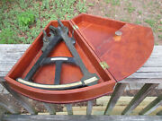 Antique 1800and039s E And G W Blunt Sextant And Wood Case Maritime Navigation