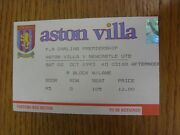 02/10/1993 Ticket Aston Villa V Newcastle United Folded. We Try And Inspect