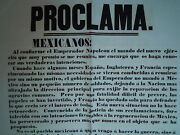 Poster Affiche Mexique Proclama Forey Mexico America French Expedition 1862 Rare