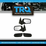 Trq Mirror Manual Performance Style Textured Cap Set Of 2 For Gm Pickup Truck
