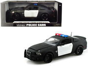 2012 Ford Shelby Mustang Gt500 Super Snake Unmarked Police Car Black/white 1/18