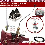 700r4 Shifter Kit 23 Swan E Brake Cable Clevis Trim Kit Dipstick For F64aa Trans