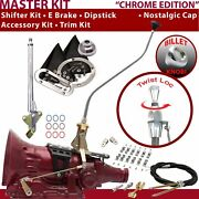 Th400 Shifter Kit 23 Swan E Brake Cable Clamp Clevis Trim Kit Dipstick For Ea5a7