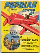 Popular Comics 72 1942- 1st Owl And Terry And The Pirates In Title Vg-