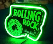 Rolling Rock Extra Pale Neon Sign Beer Bar Gift 14x10 Light Lamp Artwork