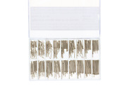 540 Pcs 8-22mm Cotter Pin For Watch Band Link Assortment Stainless Steel