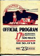 Indianapolis Motor Speedway Auto Race Program-indy 500-5/30/1929-17th Race-vg/fn