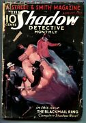 Shadow 1932 Aug -the Blackmail Ring- Street And Smith-rare Pulp G+