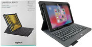 Logitech Universal Folio Keyboard Case Fits Ios Android And Windows Tablets 9-10