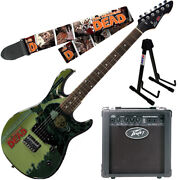 Peavey Walking Dead Michonne Splash Guitar With 6 Amp Survivors Strap And Stand