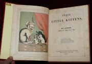 Exrare 1857 Fairy Tale 3 Little Kittens Early Color Printing Chromo-lithographs