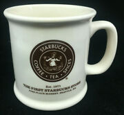 Starbucks Coffee Mug The First Store Pikes Place Market Seattle Cream Brown 1971