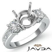 Classic 3 Stone Round Diamond Engagement Ring Princess Channel Setting 1.0ct