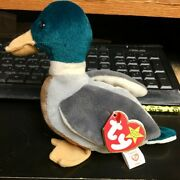 Ty Beanie Baby Jake Mallard Duck All Tags And Inside Stamp 402 Extrem Rare.errors
