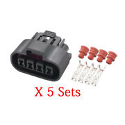 5 Sets 4 Pin 2.0mm Automotive Waterproof Connector With Terminal Dj70428-2-21