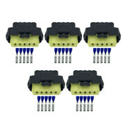 5 Sets 5 Pin 2.8mm Automotive Waterproof Connector With Terminal Dj7051y-2.8-21
