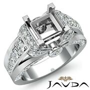 1.35c Diamond Engagement Semi Mount Pave Set Ring Antique Style Knot Shape Shank