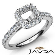 French V Cut Pave High Quality Diamond Engagement Asscher Semi Mount Ring 1ct.