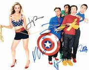 Big Bang Theory Cast Signed Autographed 11x14 Photo - Kaley Cuoco Jim Parsons +
